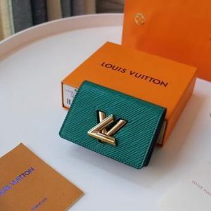 LV M68682 Louis Vuitton Twist Multicartes Wallet Epi Leather Green - luxibagsmall