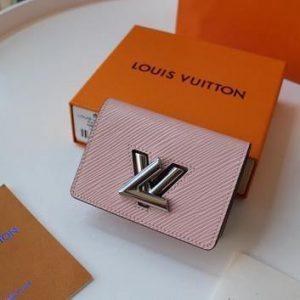 LV M68682 Louis Vuitton Twist Multicartes Wallet Epi Leather Pink - luxibagsmall