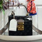 LV M90375 Louis Vuitton Spring Street Monogram Vernis Bag M90514 Black - Voguebags