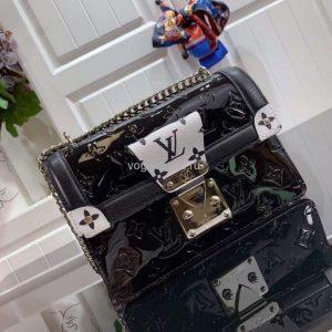 Louis Vuitton M90516 LV Wynwood Monogram Vernis Bag M90566 Black and White - Voguebags