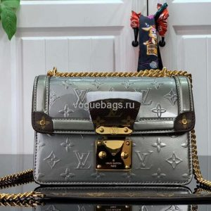 Louis Vuitton M90566 LV Wynwood Monogram Vernis Bag M90516 Gray - Voguebags