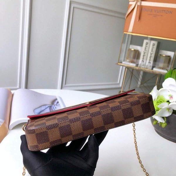 LV N63032 Louis Vuitton Felicie Pochette Bag M61276 Damier Ebene - Voguebags