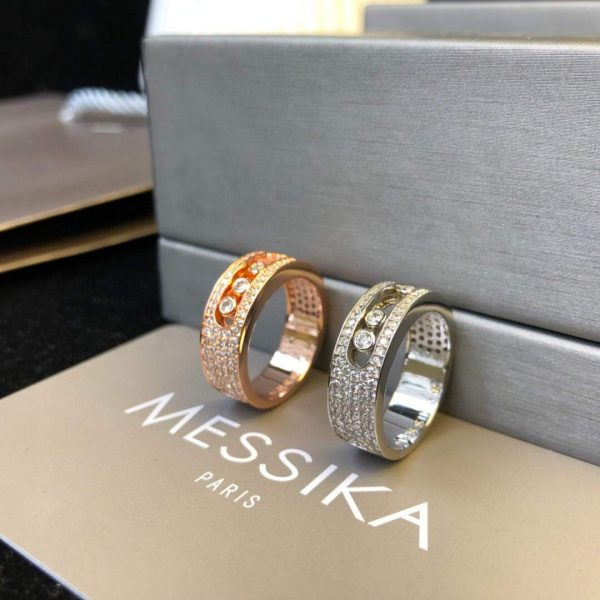 Messika Yellow Gold Diamond Ring Move Joaillerie 20221 - luxibagsmall