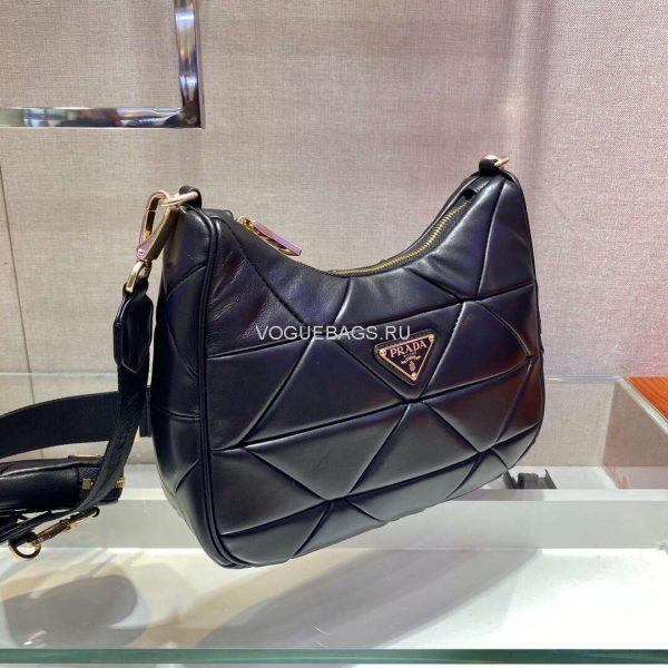 Prada 1BC151 Prada Padded Calfskin Shoulder Bag in Black - luxibagsmall