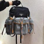 Prada 2VZ074 Nylon Backpack Bag in Gray - luxibagsmall