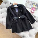 prada womens clothing single breasted jacket 1